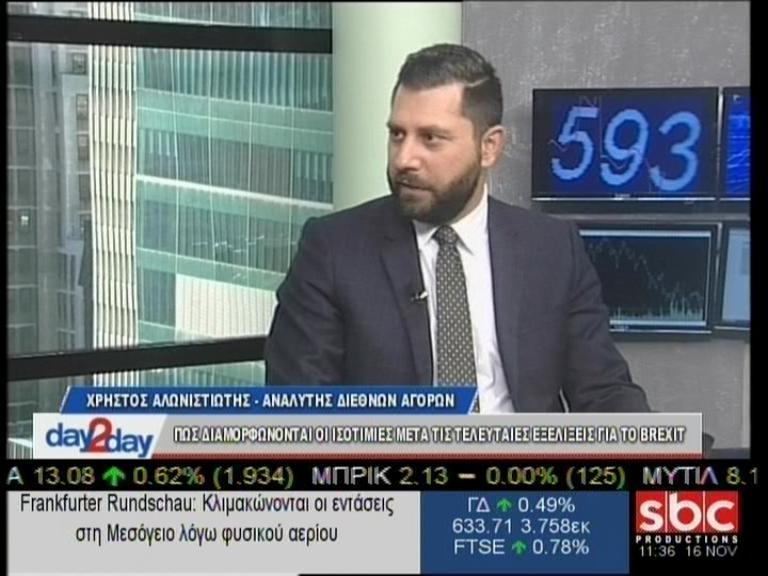 """Ο Χρήστος Αλωνιστιώτης στο """"day2day""""(16/11/2018) με τον Ανέστη Ντόκα"""