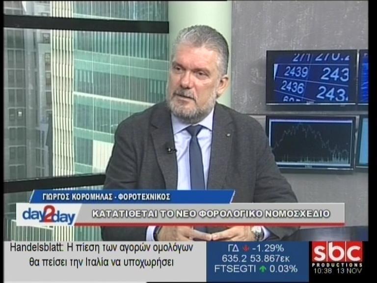 """Ο Γιώργος Κορομηλάς στο """"day2day""""(13/11/2018) με τον Ανέστη Ντόκα"""