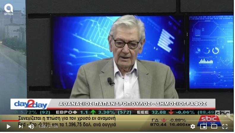 """Ο Αθανάσιος Παπανδρόπουλος στο """"day2day""""(09/07/2019) με τον Ανέστη Ντόκα"""