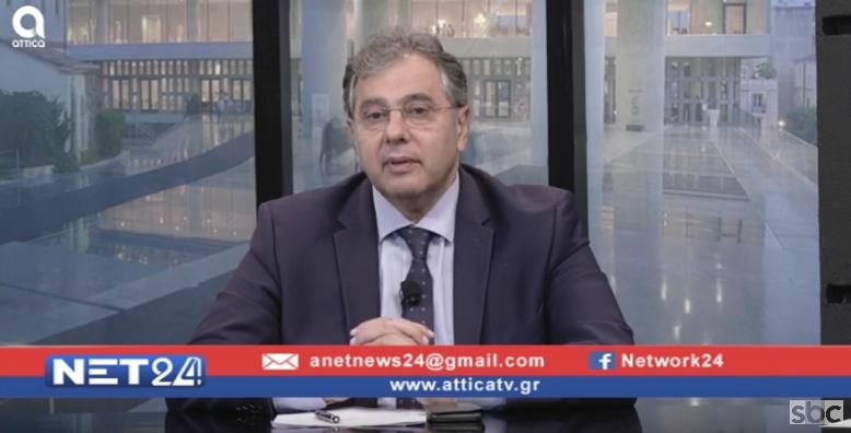 """Ο Βασίλης Κορκίδης στο """"ΝΕΤ24"""" (21/11/2019) με τον Βασίλη Ταλαμάγκα"""