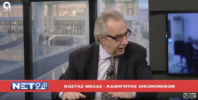 """Ο Κώστας Μελάς στο """"ΝΕΤ24"""" (02/12/2019) με τον Βασίλη Ταλαμάγκα"""