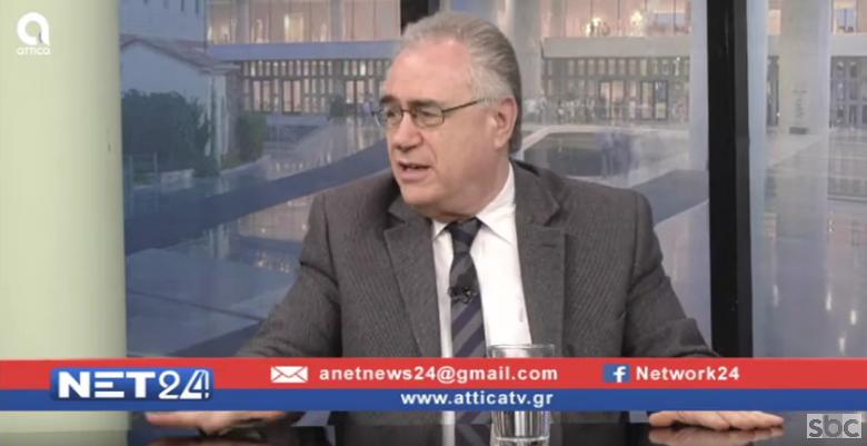 """Ο Αλέξανδρος Κακαβάς στο """"ΝΕΤ24"""" (06/02/2020) με τον Βασίλη Ταλαμάγκα"""