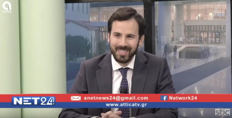 """Ο Νίκος Ρωμανός στο """"ΝΕΤ24"""" (12/02/2020) με τον Βασίλη Ταλαμάγκα"""
